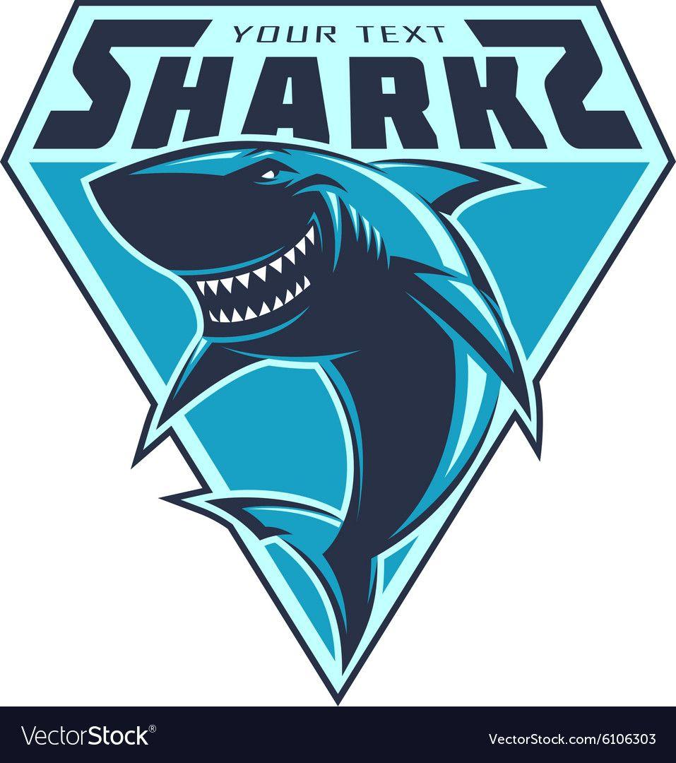 Modern Professional Sharks Logo For A Club Or Sport Team Download A Free Preview Or High Quality Adobe Illustrator A Shark Logo Shark Illustration Vector Logo