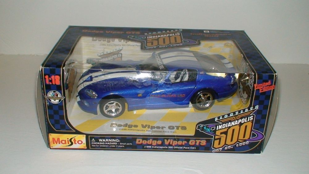 1996 Dodge Viper Gts Maisto 118 Indianapolis 500 Limited Edition