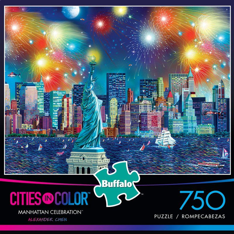 Cities in Color: Manhattan Celebration - 750 Piece Jigsaw Puzzle