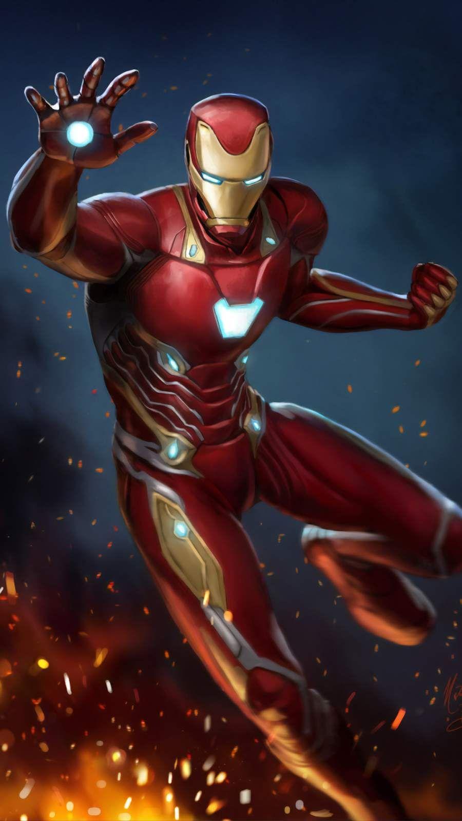 Art Iron Man Mark 50 Iphone Wallpaper With Images Iron Man Art