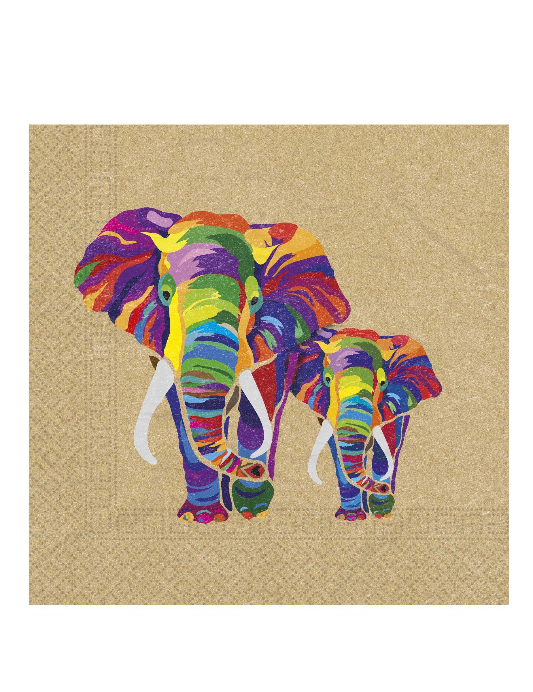 """8 x Cirque Temps 9/"""" Assiettes en Papier Mignon Éléphant Fête D/'Anniversaire Enfants Animal"""