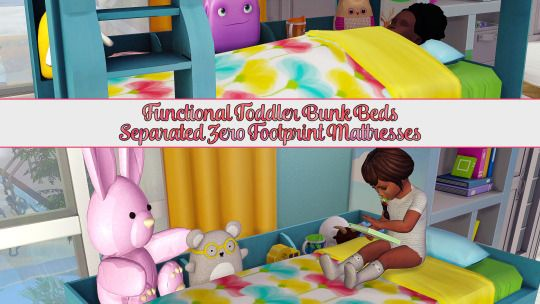 Etagenbett Sims 4 : Sims 4 ccs the best: functional toddler bunk bed frame & zero