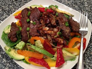 Peace, Love, and Low Carb: Balsamic Flat Iron Steak Salad (Low-Carb, Gluten-Free Paleo, Dairy-Free, Whole30)