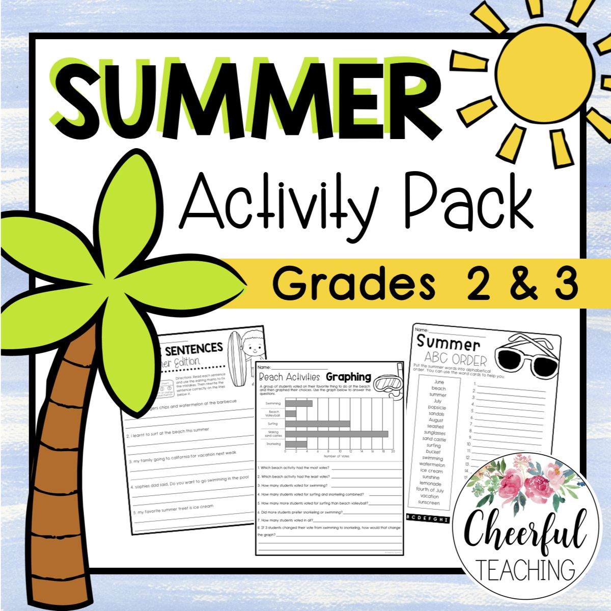 No Prep Summer Activity Pack