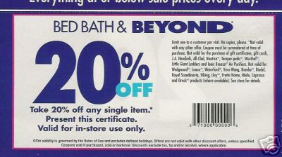This is a fake Bed Bath & Beyond coupon being shared on Facebook. Don't  click on it. It's a hoax! Don't expect Bed Bath & Beyond to accept these  coupons.