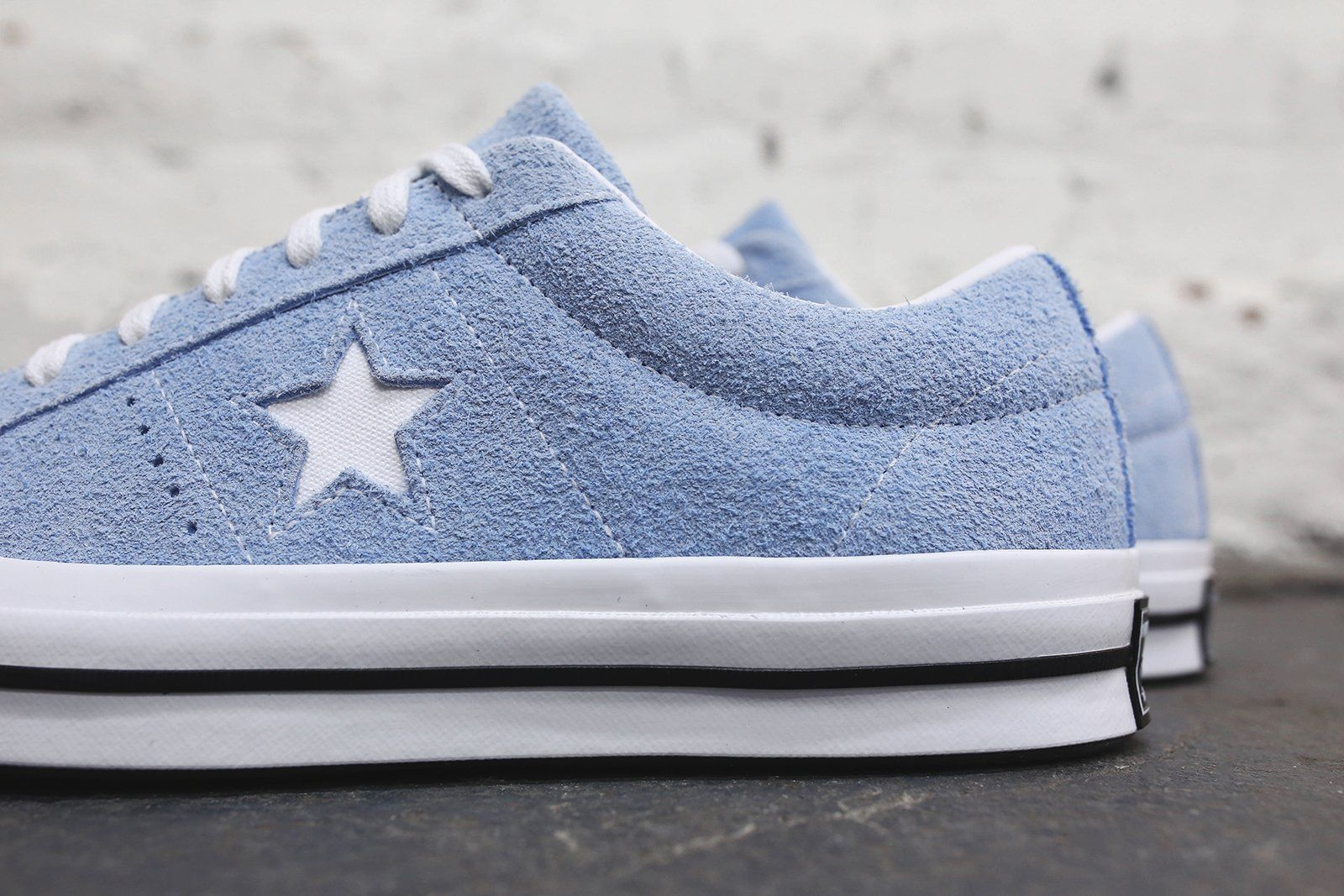 Converse One Star Ox Blue Chill White Black