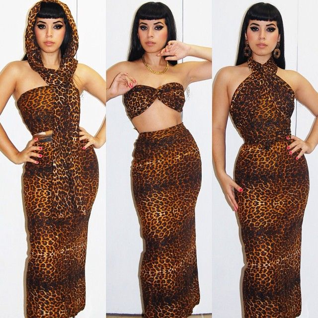 #TBTI found two pieces of vintage leopard to be in used 3 WAYS!!