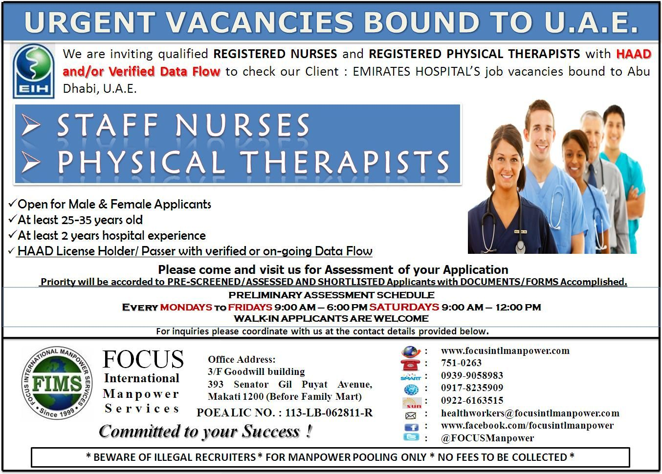 No Placement Fee Job Vacancies For Nurses Bound To Bahrain