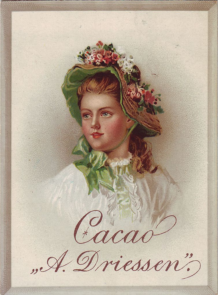 https://flic.kr/p/bqC5Co | CACAO DRIESSEN HEAD AND SHOULDERS FACING LEFT WEARING HAT WITH FLORAL DECOR