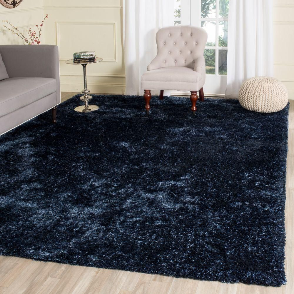 Safavieh Toronto Shag Navy 8 Ft X 10 Ft Area Rug Blue