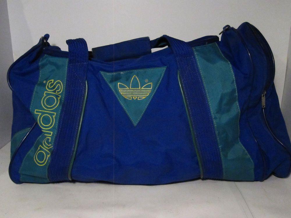 b2ffebbe271a vintage 80 s adidas gym bag duffle bag unisex