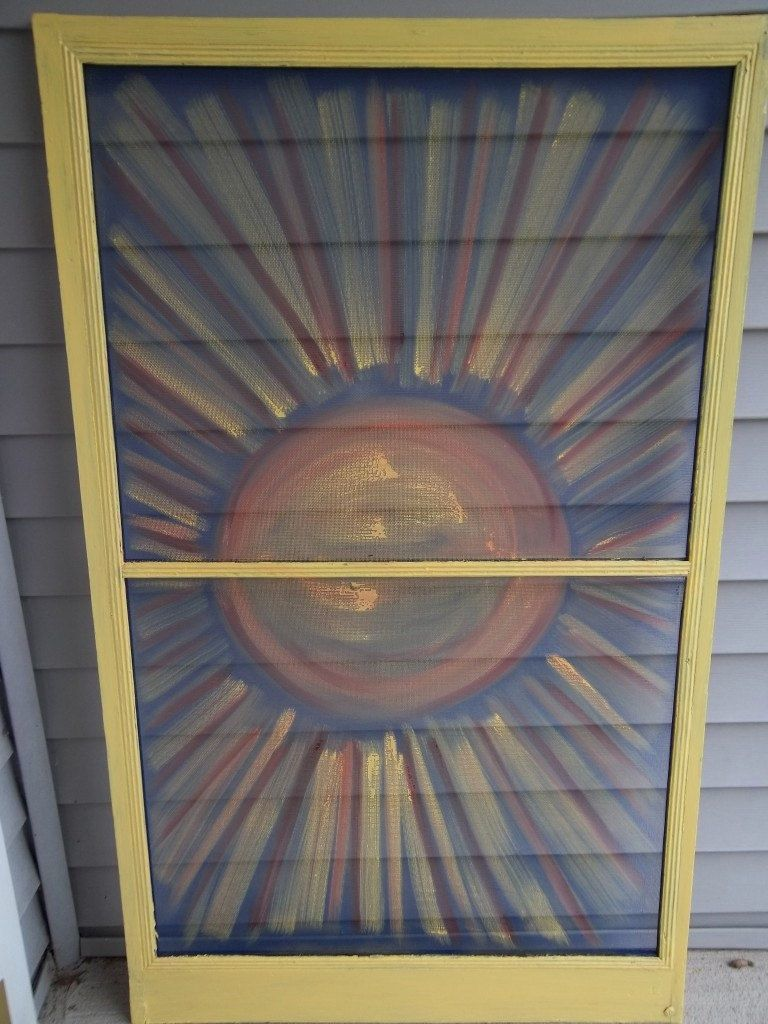 Sunshine Painted on Vintage Screen | Craft Ideas | Pinterest