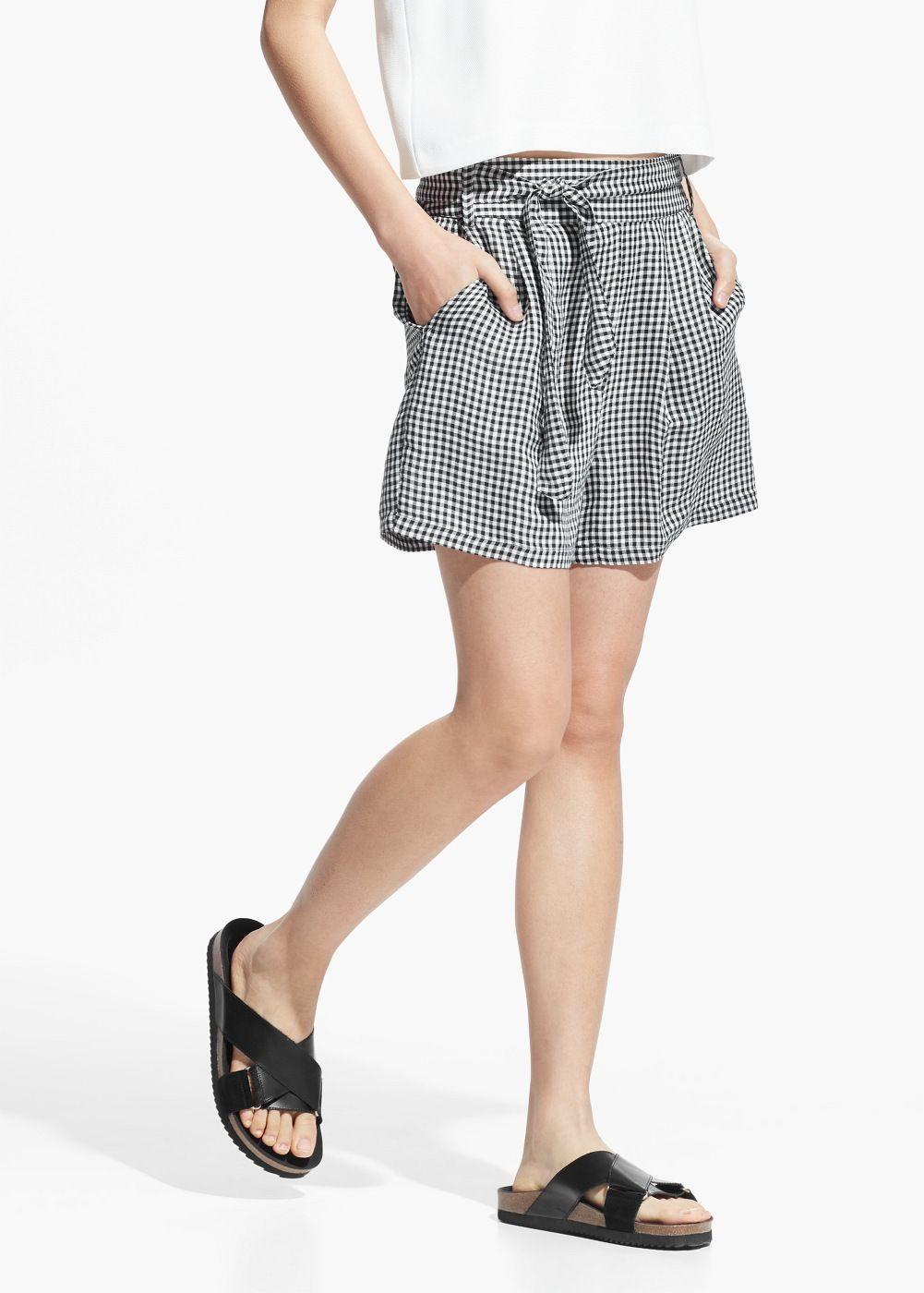 Bermudashorts mit vichy-karo - Shorts für Damen | OUTLET Deutschland ...
