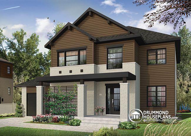 W3720 - Modern 2 storey home plan with 4 bedrooms, ensuite, 3 full - tva construction maison neuve