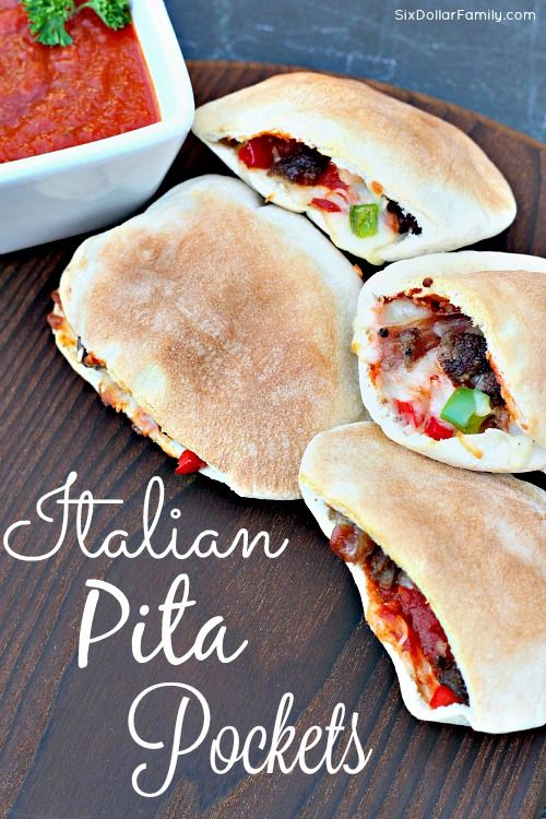 Homemade Italian Pita Pockets Recipe Pita Pocket Recipes Recipes Pita Pockets