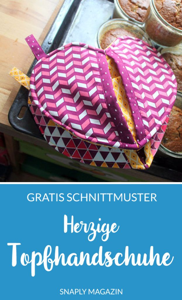 Gratis Schnittmuster & Anleitung: Herzige Ofenhandschuhe nähen #sewingbeginner