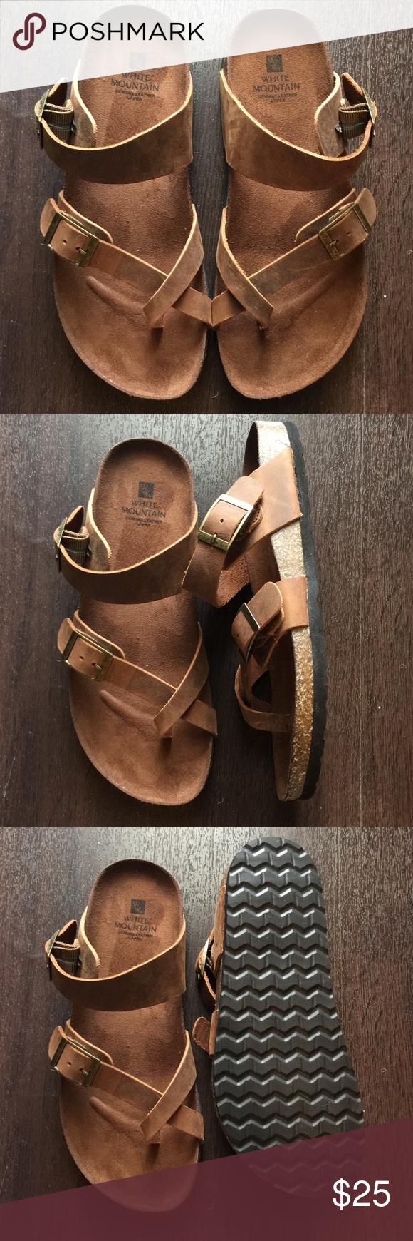 White Mountain Gracie Sandals Leather