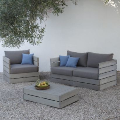 Cavallo Wooden 2 Seater Sofa, B&Q think I could easily make a ...