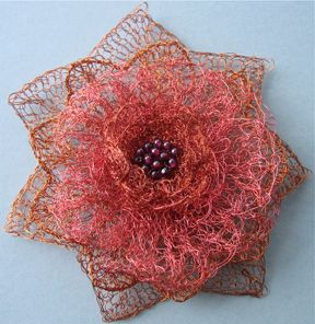 Copper corsage, knitted wire | Dazzling Adornment | Pinterest ...
