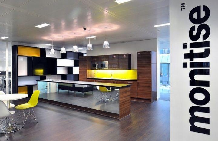 Monitise headquarters by Morgan Lovell, London office design La