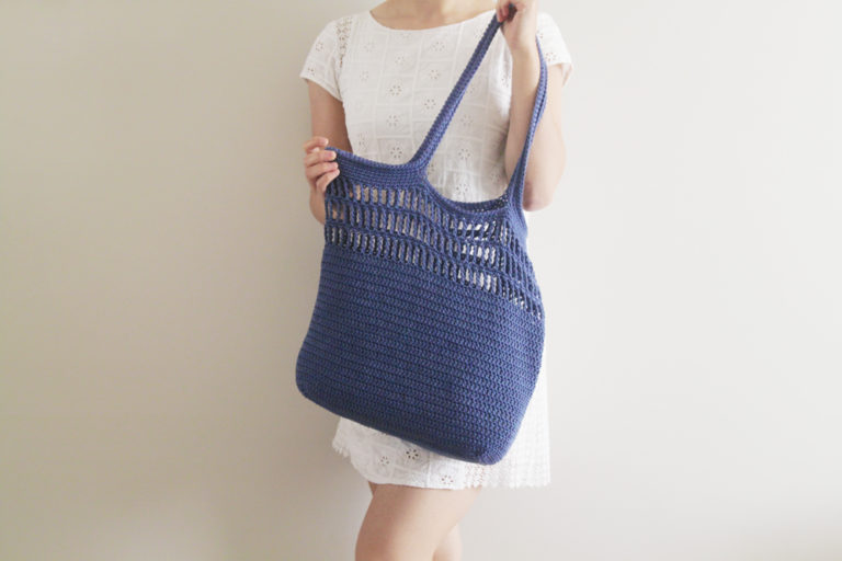 Easy Tote Bag – Free Crochet Pattern + Video Tutorial | For The Frills
