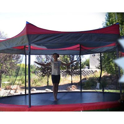14 Trampoline Shade Cover Protection Canopy Outdoor Umbrella Kids Awning Tent Backyard Trampoline Canopy Outdoor Trampoline