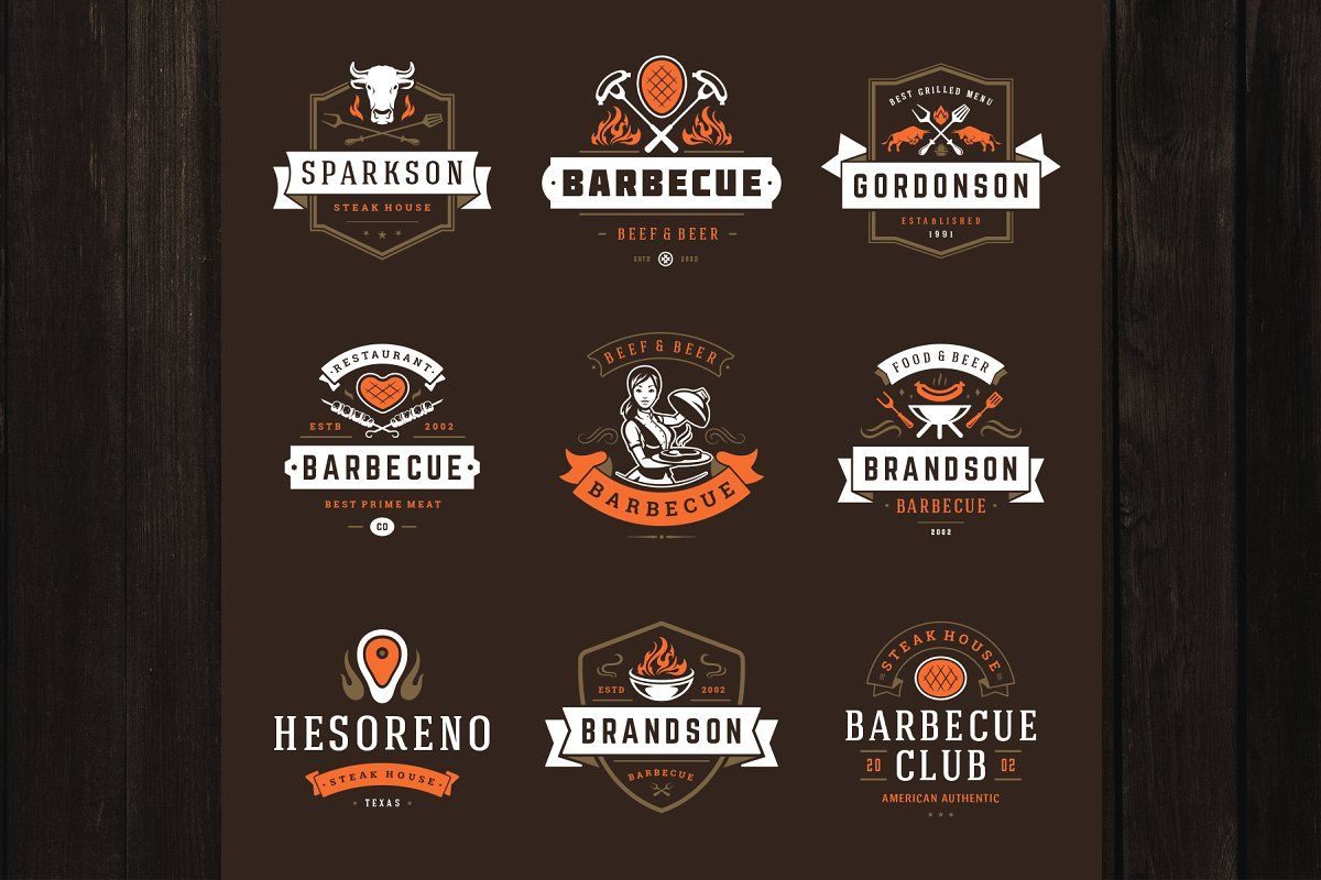 18 Barbecue Logos And Badges How To Grill Steak Barbecue Steak House Menu