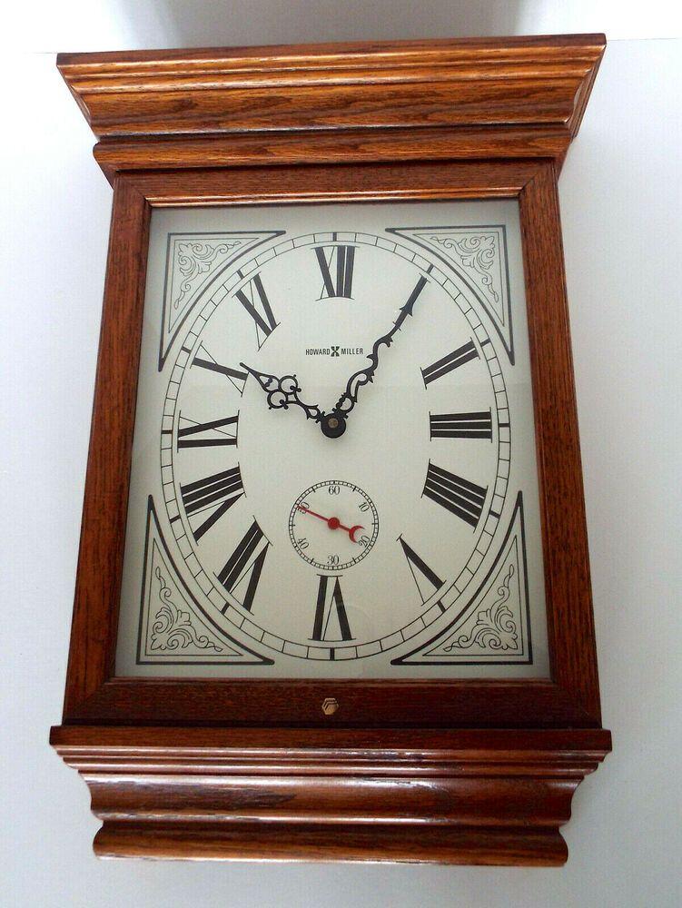 Howard Miller Wall Clock Vintage Model 613 239 Fables Quartz 19 Oak Wood Usa Howard Miller Wall Clock Clock Wall Clock
