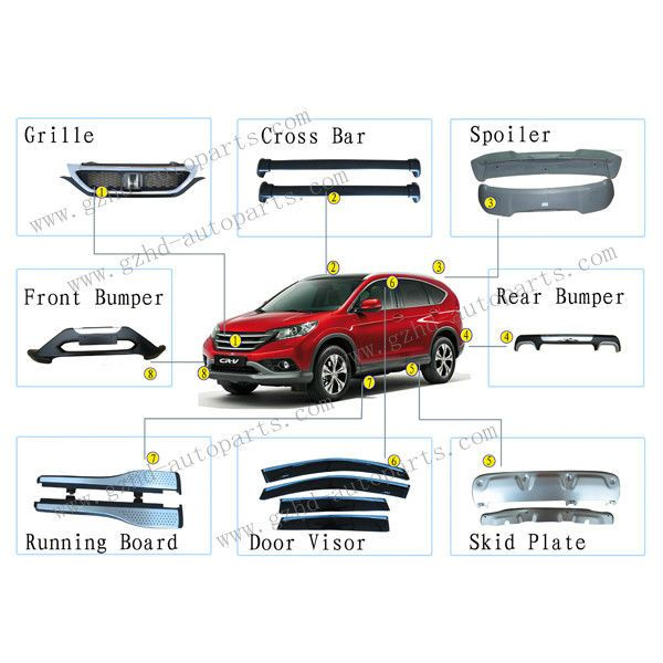 Factory Professional Accessories For Honda Crv Cr V 2012 Car Part