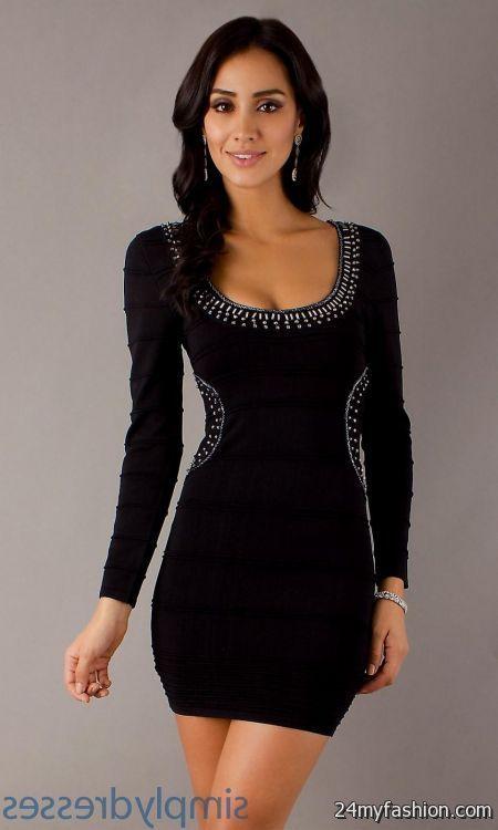 Cool short black dress with long sleeves 2018/2019 Check more at ...