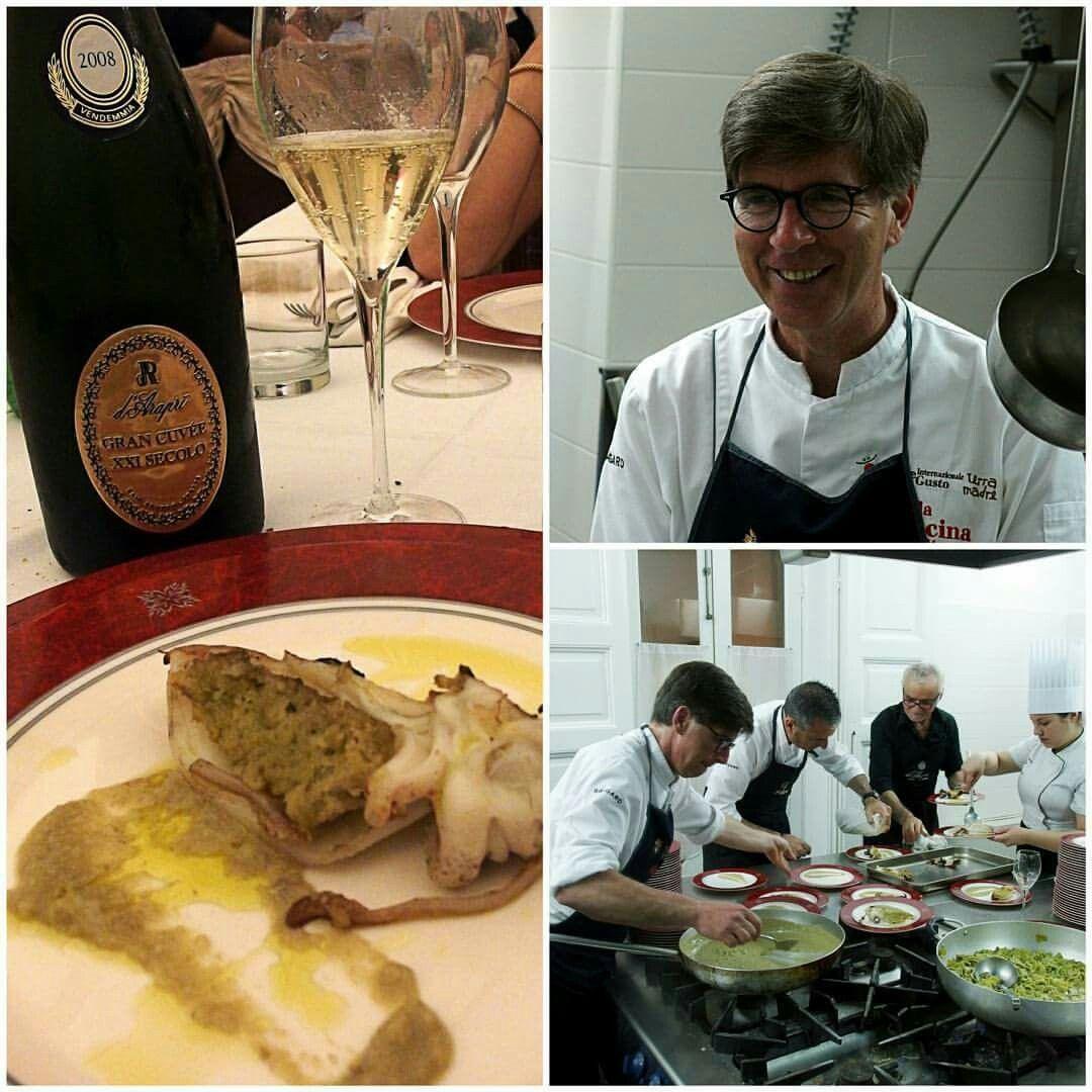 #cena d'autore a Palazzo d'Araprì  :  #seppia ripiena con #carciofo  e #bollicine  #grancuvée.  #antonioterzano
