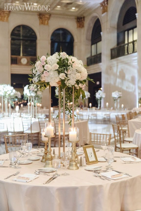 Photo of Blush Wedding Centrepieces, Blush and Gold Wedding Table | A Classic Blush Gold …