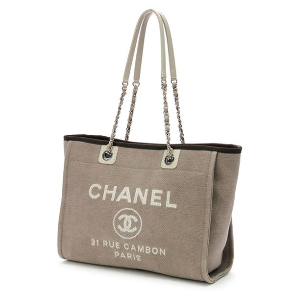 Chanel Beige Canvas Deauville Shopping Tote Handbag -  1,399.99 ... 8502ee4874