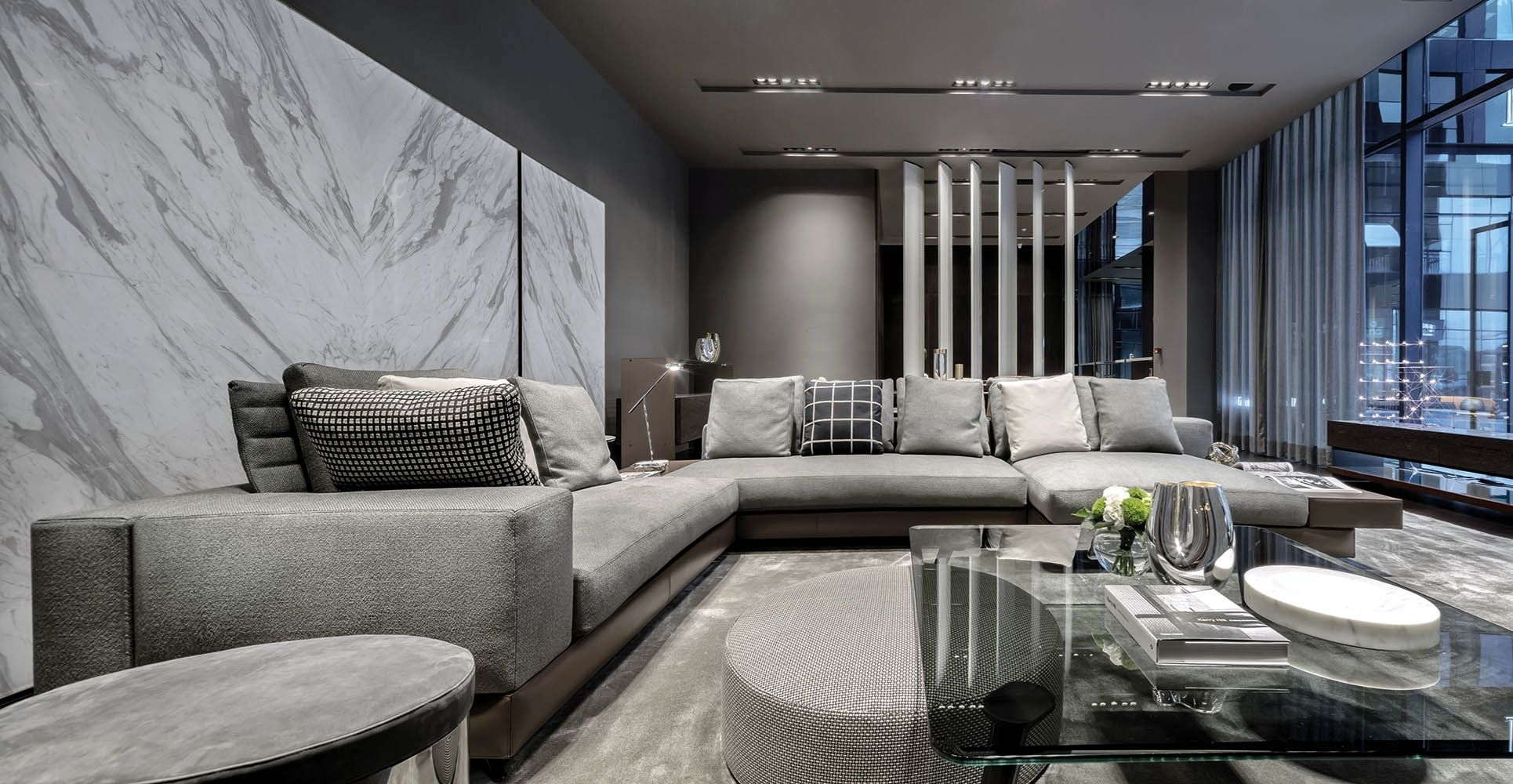 Minotti Living Room Ideas Minotti Furniture For Big Living Spaces Fulfi Large Living Room Furniture Living Room Furniture Layout Family Room Furniture Layout
