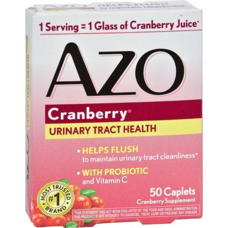 AZO Cranberry Caplets, Urinary Tract Health, Helps Cleanse & Protect, 50 ct - Walmart.com