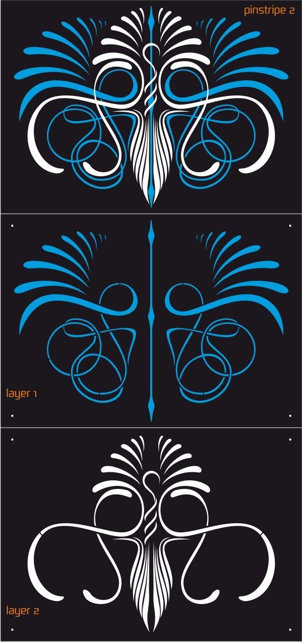 AEROSPACE 2 Layer Airbrush Stencil Set - Pinstripe 2 | plantillas ...