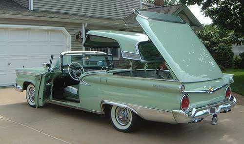 Ford Fairlane Skyliner Convertible 1959 Fordclassiccars With