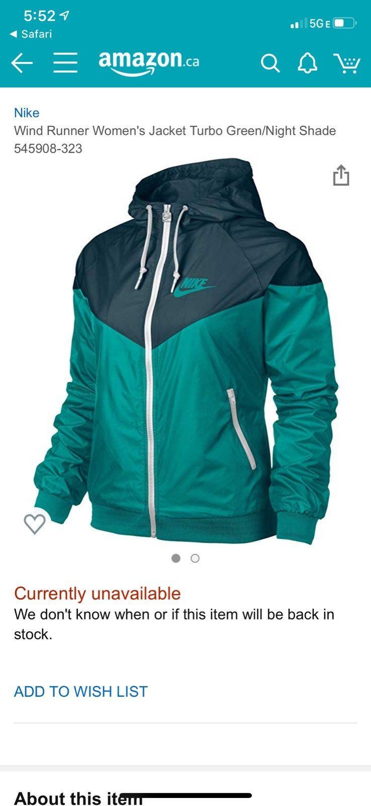 Nike Wind Runner Jacket Turbo Green