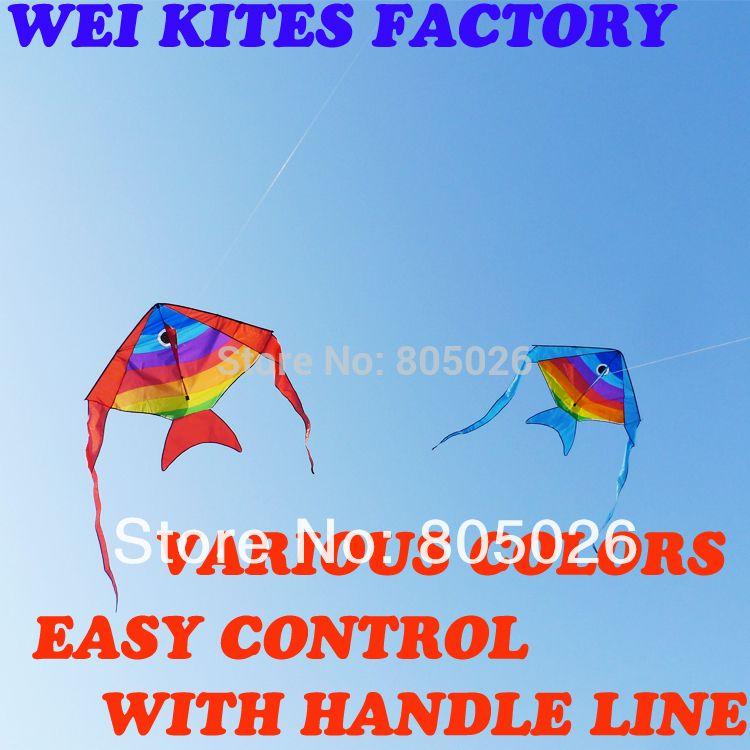 only 9.9$ free shipping high quality Spanish mackerel fish batfish kites with handle line kites wholeale wei kite factory