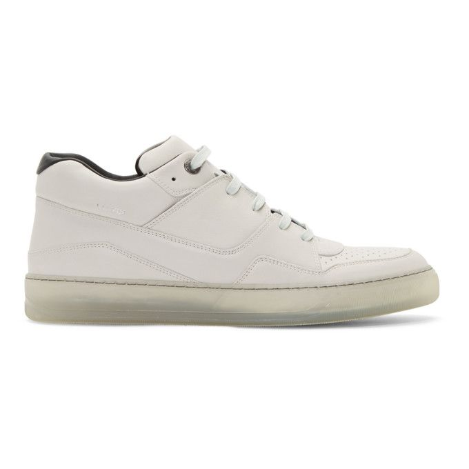 Lanvin Off-White Leather Sneakers AUAaThSuuX