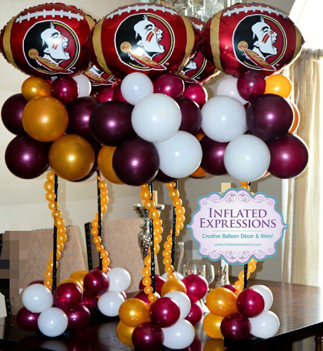 Florida State University Themed Balloon Centerpieces Balloon Centerpieces Balloons Balloon Decorations