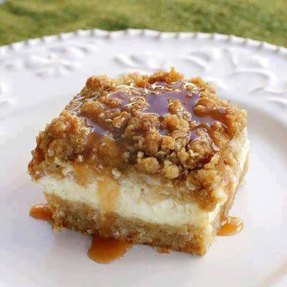 Carmel Apple Cheesecake Bars RECIPE YUM