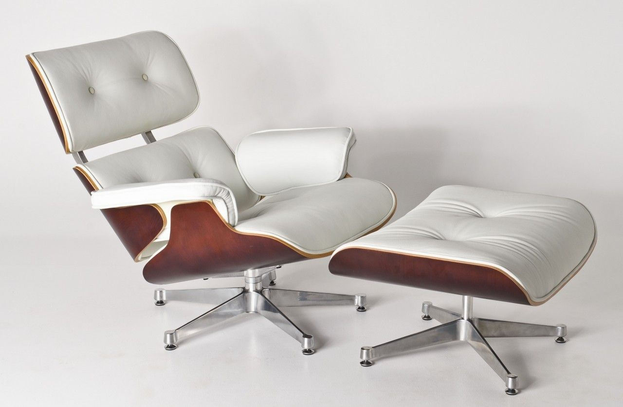 White ash eames 174 lounge chair amp ottoman hivemodern com - 1000 Images About The Eames Lounge Chair On Pinterest Ottomans 1000 Images About The Eames Lounge