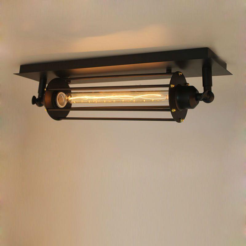 light style retro fixtures spot fixture stoving long varnish