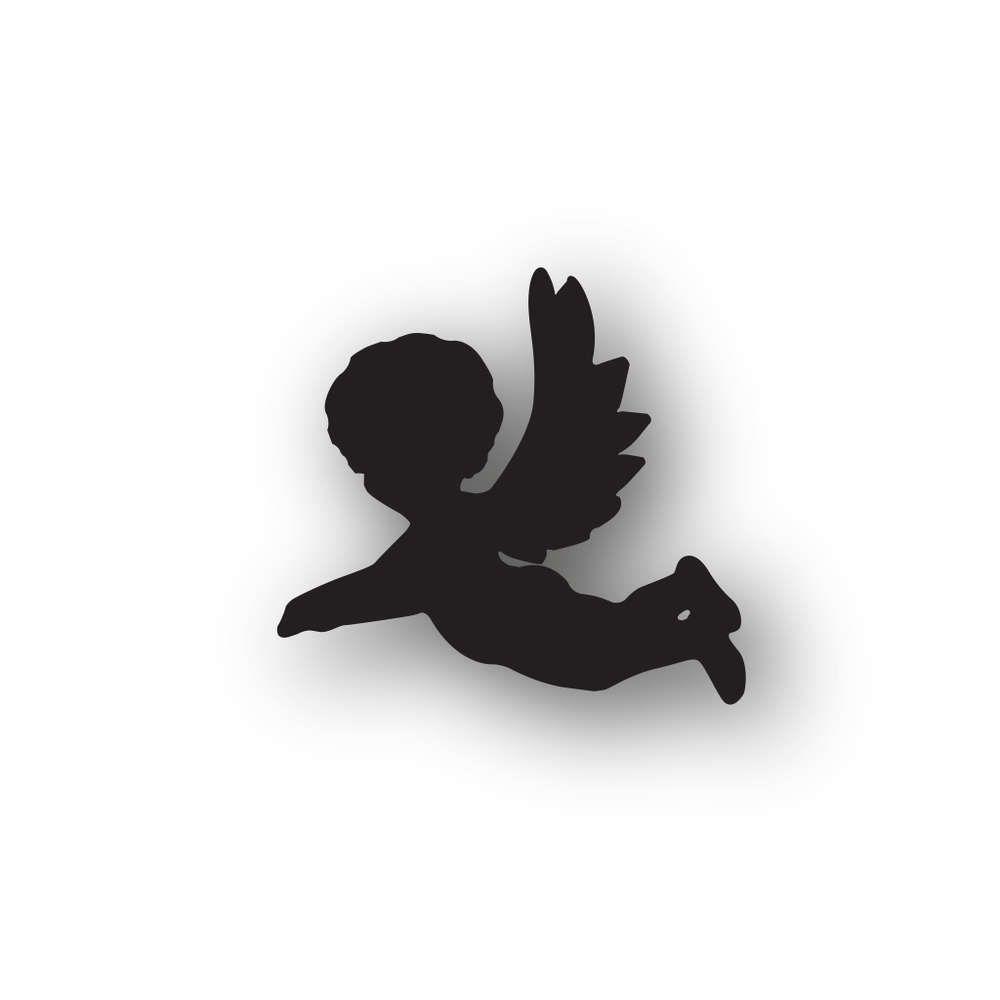 Netter Fliegenden Engel Mit Flote Handzeichnung