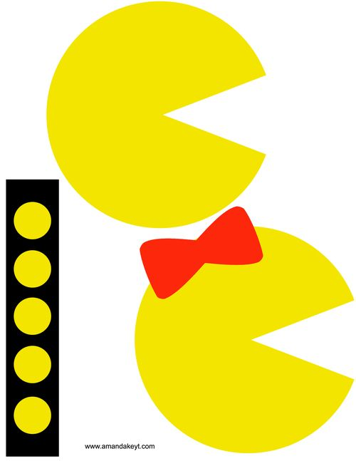 photograph relating to Pac Man Printable referred to as Pin upon Pac Male Printables