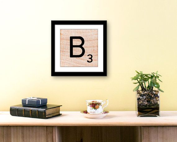 Wall Decor Art Print Letter B Scrabble Wall Art by EKphotoArt | Etsy ...