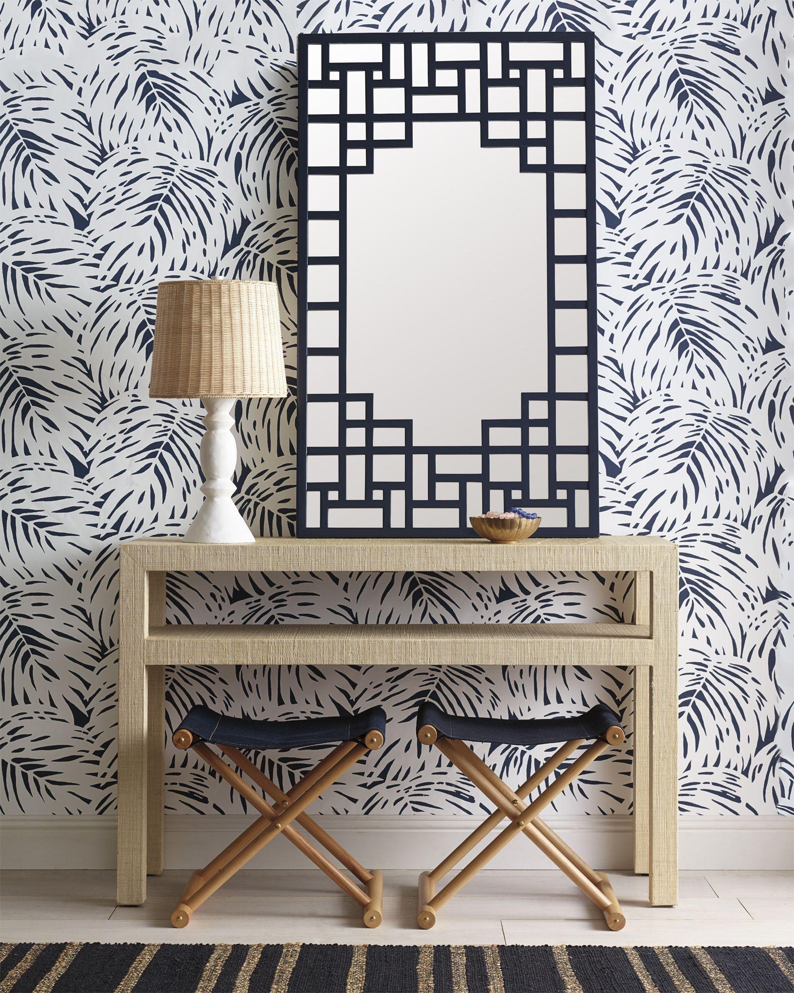 Palm Wallpaper Bathroom Wallpaper Trends Wallpaper Trends Blue And White Wallpaper