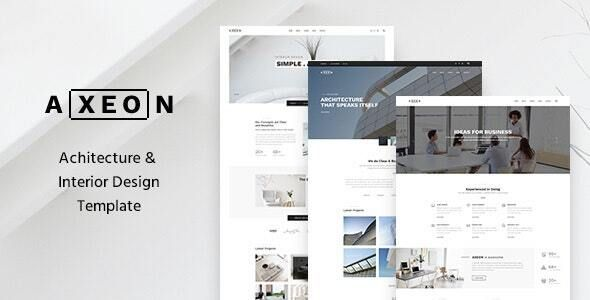 Axeon Architecture Interior and Renovation Template