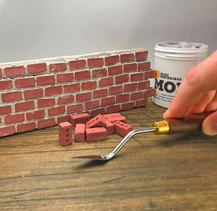 Mini Cement Bricks And Mortar Let You Build Your Own Tiny Wall Red Bricks Brick Cool Things To Buy